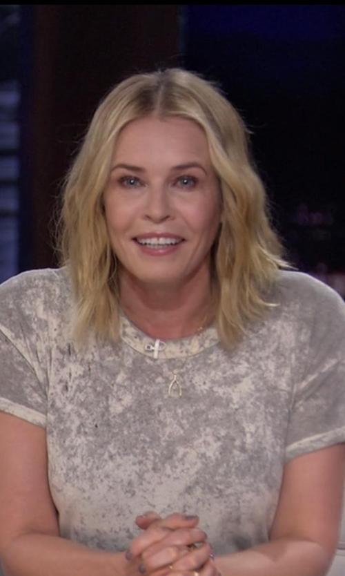Chelsea Handler with Saint Laurent Washed T-Shirt in Chelsea