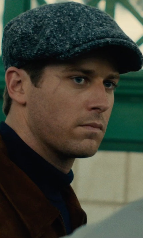 Armie Hammer with Joanna Johnston (Costume Designer) Custom Made W. Bill Wool Ivy Cap in The Man from U.N.C.L.E.