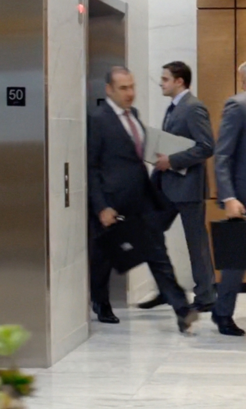 Rick Hoffman with Bosca 'Partners' Briefcase in Suits
