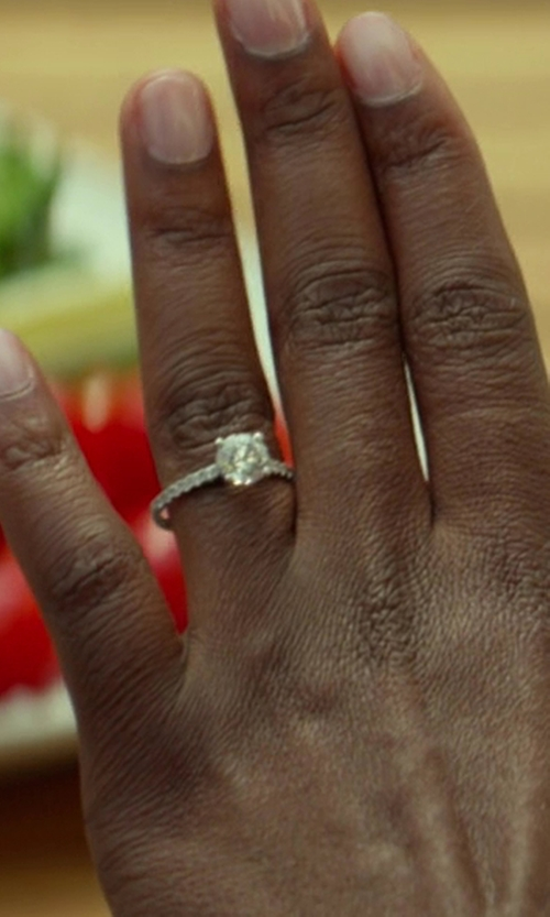 Kevin Hart with Houston Diamond District 1.04 Carat Round Cut Classic Prong Set Diamond Engagement Ring in Ride Along