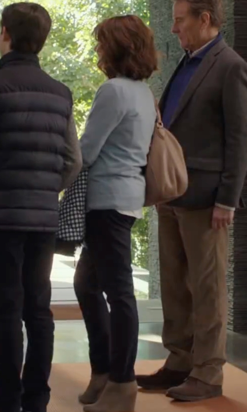 Megan Mullally with Theory Izelle C. Slim-Fit Jetty Pants in Why Him?