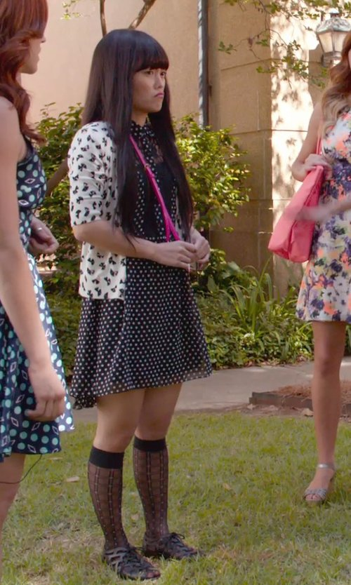 Hana Mae Lee with Melissa Jean+ Woven Rubber Ballet Flats in Pitch Perfect 2