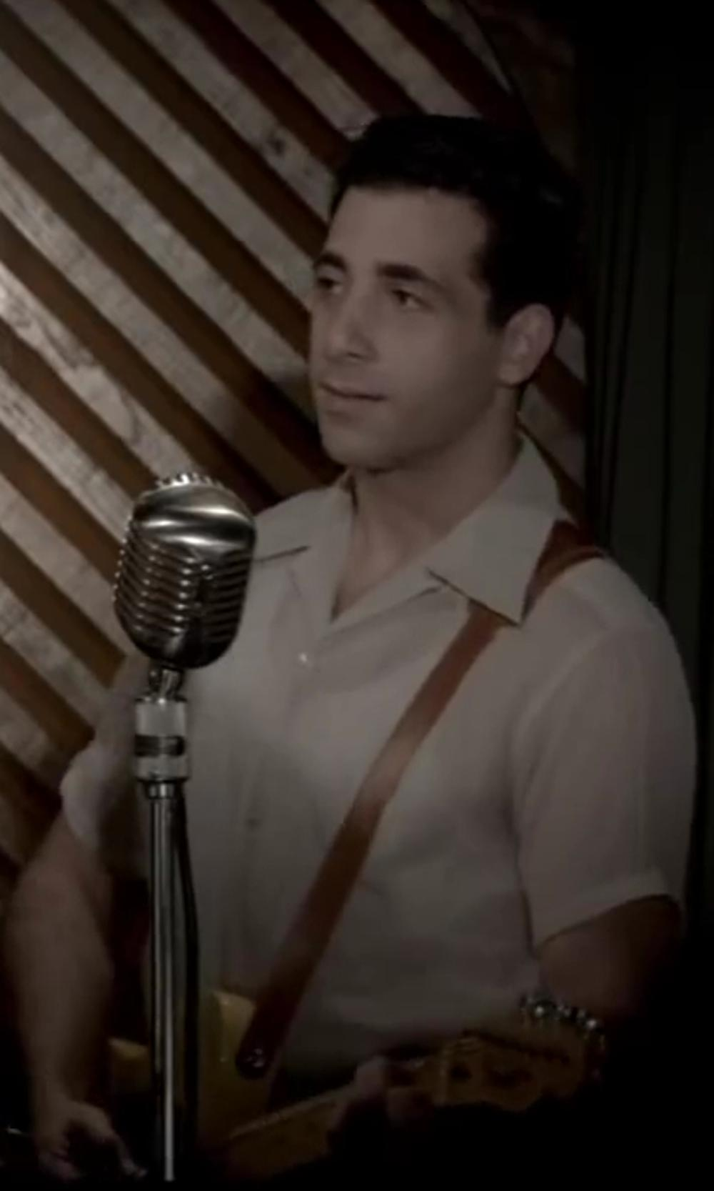 Joe Abraham with Perry Ellis Short Sleeve Solid Linen Shirt in Jersey Boys