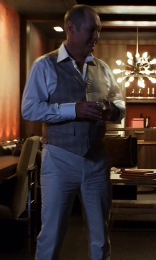 James Spader with Browns Soft Cotton Poplin Chino Pants in The Blacklist