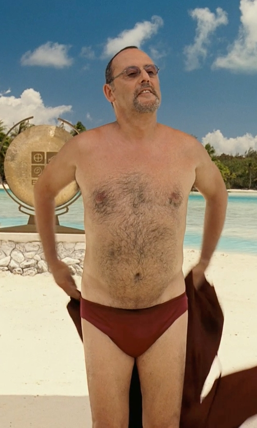 Jean Reno with Arena Swim Waternity Mens And Boys Skys Brief in Couple's Retreat