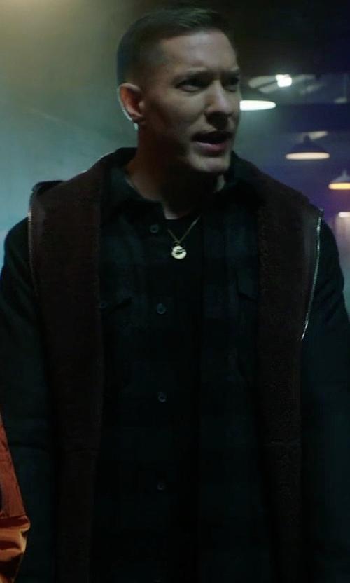 Joseph Sikora with AllSaints Monson Plaid Shirt in Power
