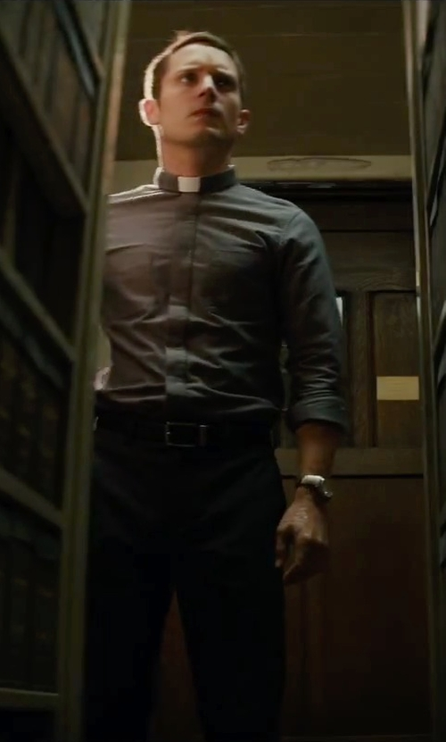 Elijah Wood with Barneys New York Leather Belt in The Last Witch Hunter