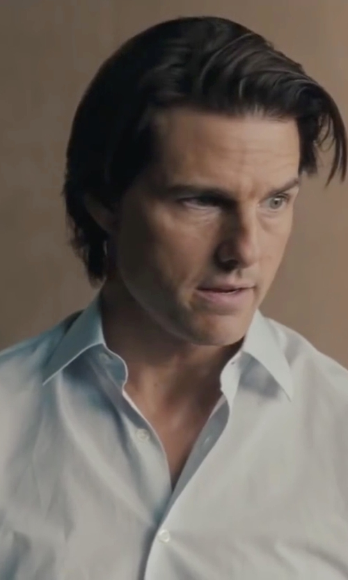 Tom Cruise with Turnbull & Asser Solid Poplin Dress Shirt in Mission: Impossible - Ghost Protocol