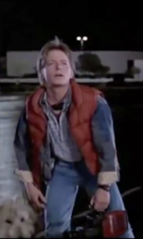 Michael J. Fox with Casio CA53W Calculator Watch in Back To The Future
