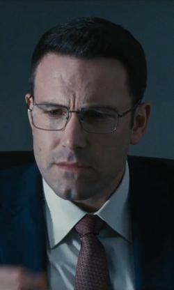 Ben Affleck with David Yurman Rectangular Full-Rim Eyeglasses in The Accountant