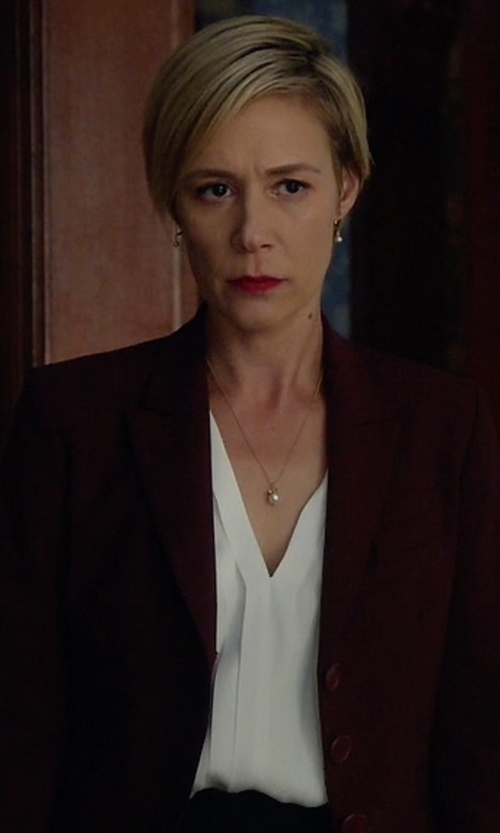 Liza Weil with Vince Crepe Blouse in How To Get Away With Murder