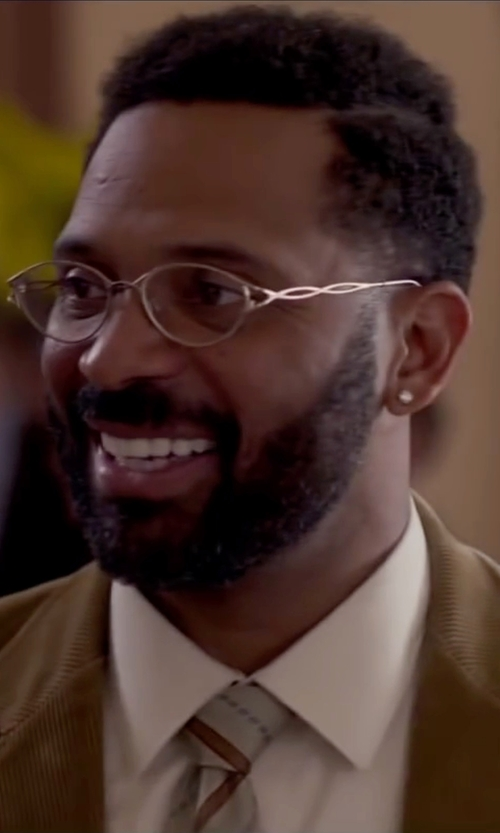 Mike Epps with John Varvatos Round Reading Glasses in Fifty Shades of Black