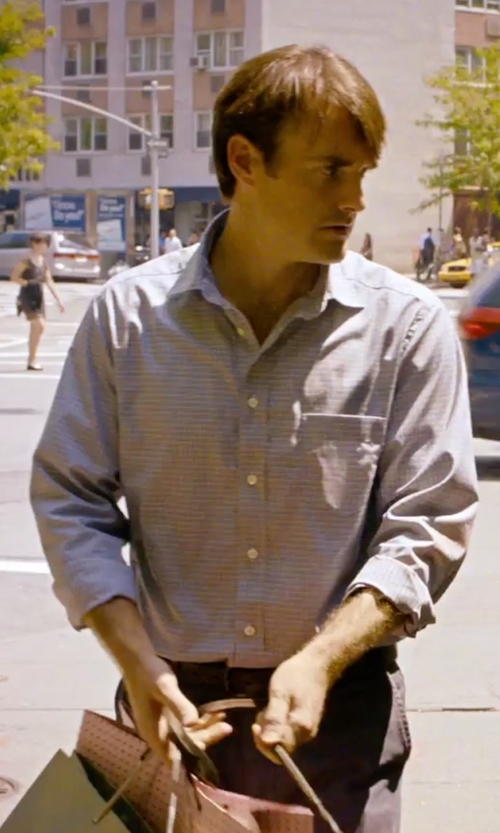 Will Forte with Hart Schaffner Marx Long-Sleeve Mini-Check Woven Shirt in She's Funny That Way