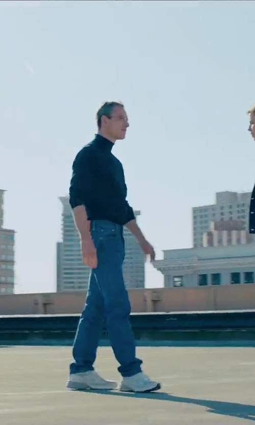 Michael Fassbender with Prps Denim Pants in Steve Jobs