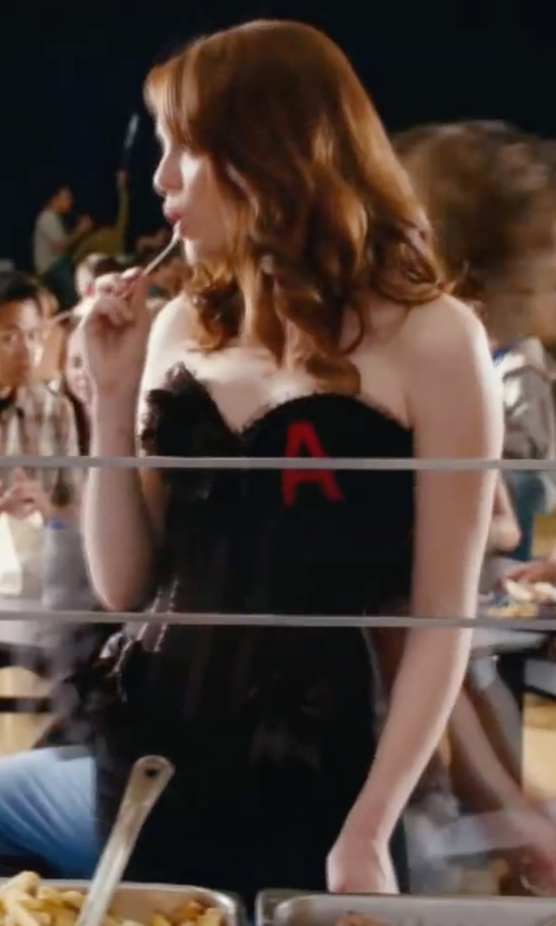 Emma Stone with Hudson Tilda Mid-Rise Cigarette Jean in Easy A