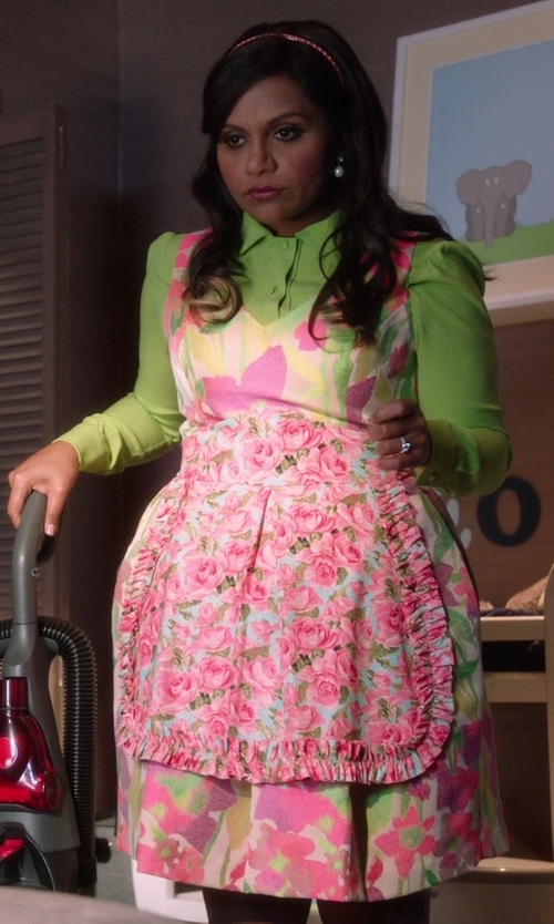 Mindy Kaling with Dylan Neon Neutrals Blouse in The Mindy Project
