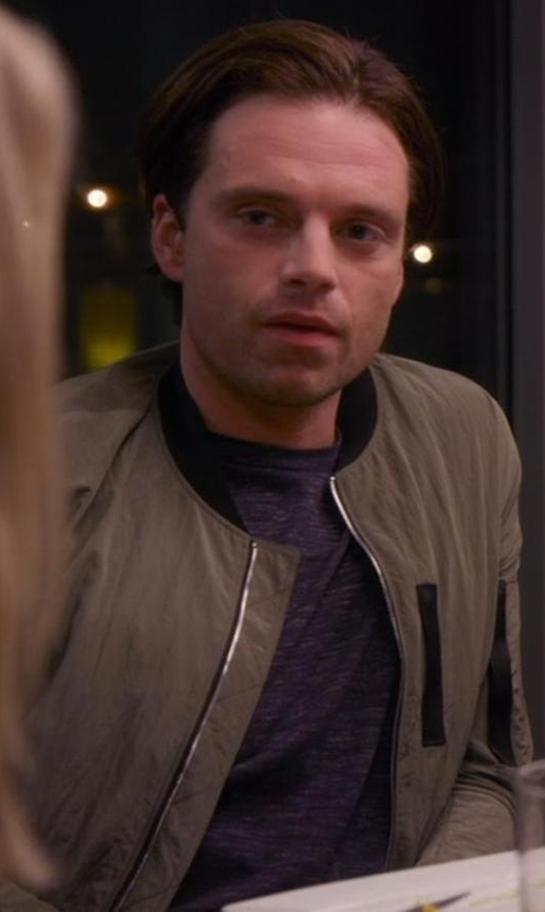 Sebastian Stan with Plac Nylon Shirting Jacket in Chelsea