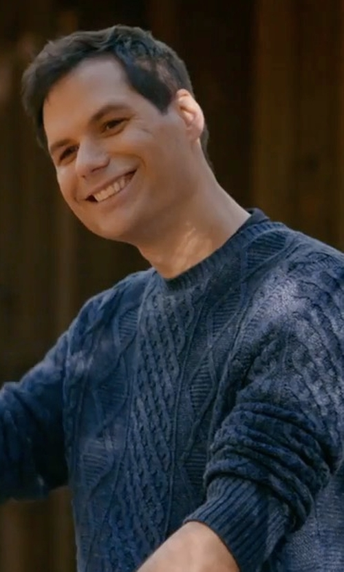Michael Ian Black with Abercrombie & Fitch Garment Dye Cable Crew Sweater in Wet Hot American Summer: Ten Years Later