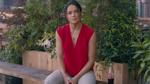 Michelle Rodriguez with Current/Elliott Stiletto Jeans in The Fate of the Furious