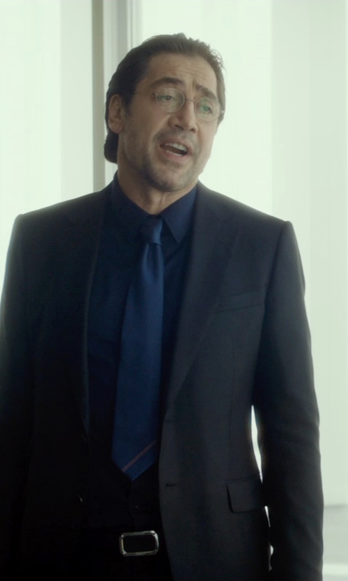 Javier Bardem with Ted Baker London Jones Trim Fit Wool Suit in The Gunman