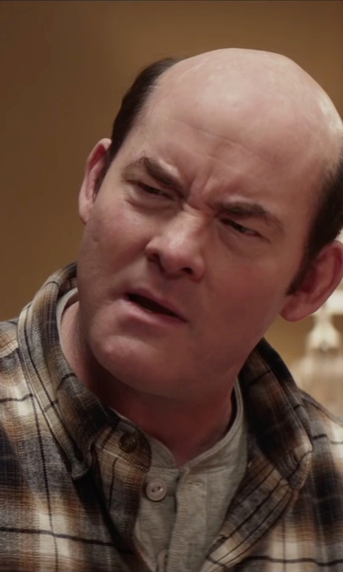 David Koechner with Vince Favorite Jersey Long Sleeve Henley in Krampus
