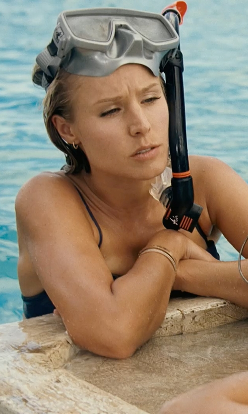 Kristen Bell with Panda Superstore Black Anti Fog Freediving Mask & Snorkel Set Snorkeling Goggles in Couple's Retreat