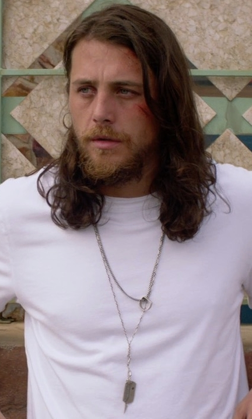 Ben Robson with Rag & Bone Standard Issue Thermal T-Shirt in Animal Kingdom