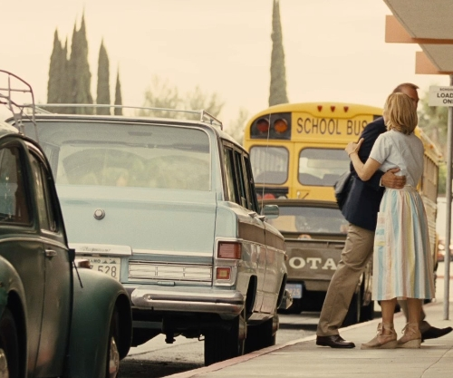 Kevin Costner with Jeep 1978 Wagoneer in McFarland, USA