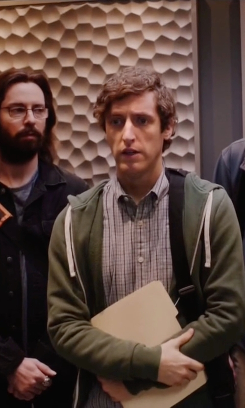 Thomas Middleditch with Adidas By Day One Utility Cotton-Blend Jersey Hooded Sweatshirt in Silicon Valley