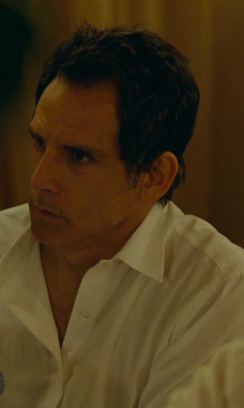 Ben Stiller with Brooks Brothers Non-Iron Regent Fit Point Collar Dress Shirt in While We're Young