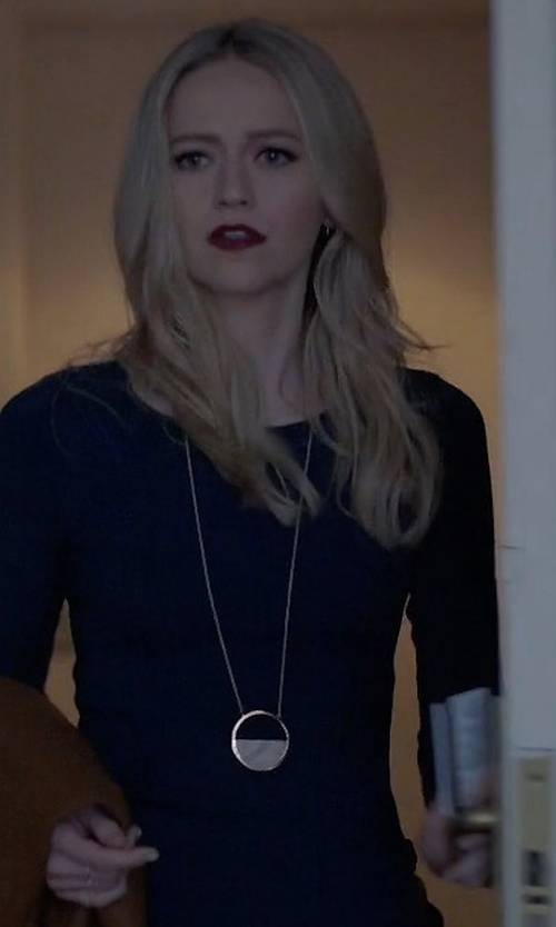 Johanna Braddy with Michael Kors Open Circle Pavé Crystal Pendant Necklace in Quantico