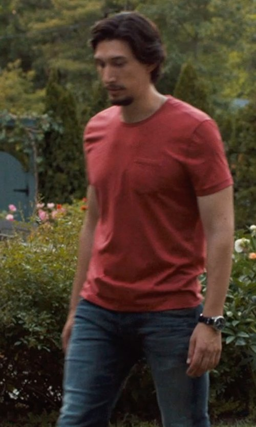 Adam Driver with ASOS T-Shirt With Crew Neck in This Is Where I Leave You