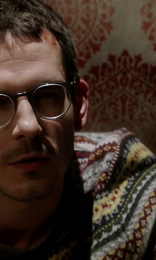 Tate Ellington with Nautica Heathered Fair Isle Sweater in Quantico