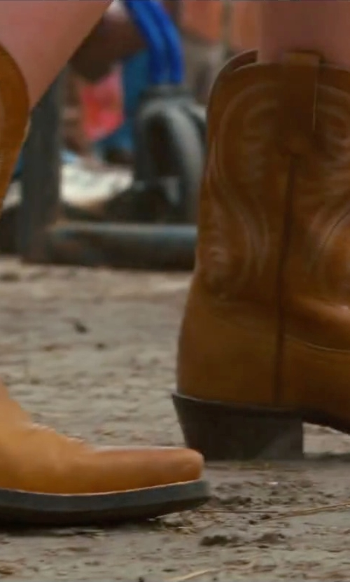 Britt Robertson with Bed Stu Filly Western Boots in The Longest Ride
