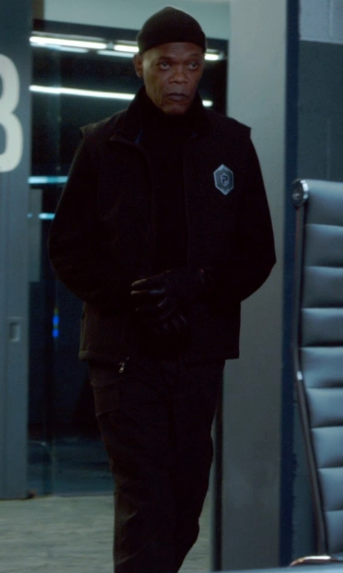 Samuel L. Jackson with Grayers 'Russel' Slim Fit Wool Cargo Pants in Barely Lethal