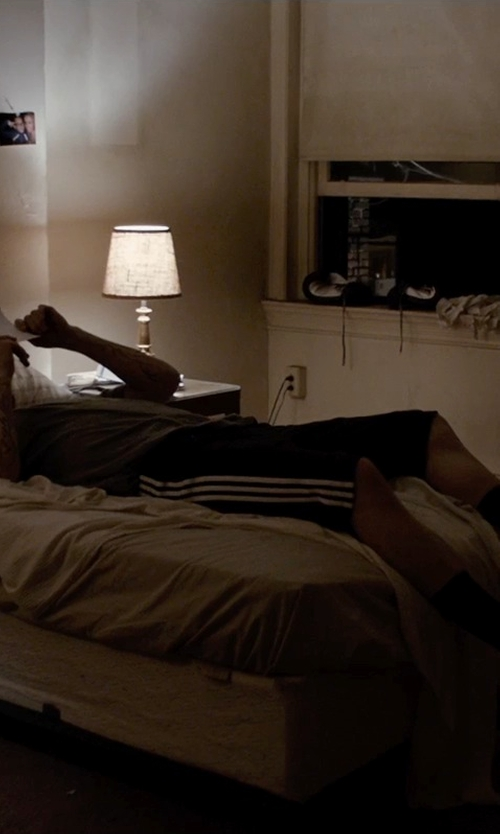 Jake Gyllenhaal with Adidas Climalite Essential Shorts in Southpaw