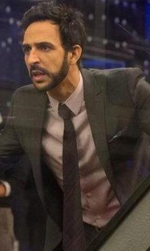 Amir Arison with Armani Collezioni Graph-Check Shirt in The Blacklist