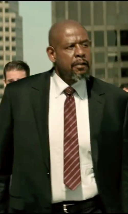 Forest Whitaker with Calvin Klein Solid Wool Black Suit in Taken 3