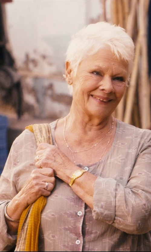 Judi Dench with BDBA Round Collar Blouse in The Second Best Exotic Marigold Hotel