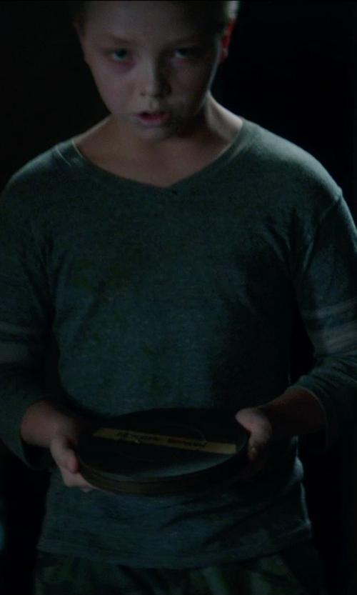 Caden M. Fritz with Brooks Brothers Big Boys' Supima V Neck Sweater in Sinister 2