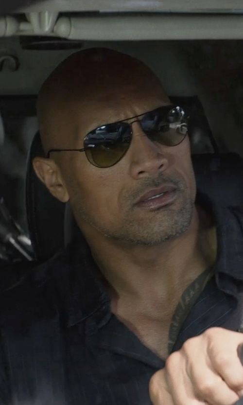 Dwayne Johnson with Ray-Ban Original Aviator Sunglasses in San Andreas