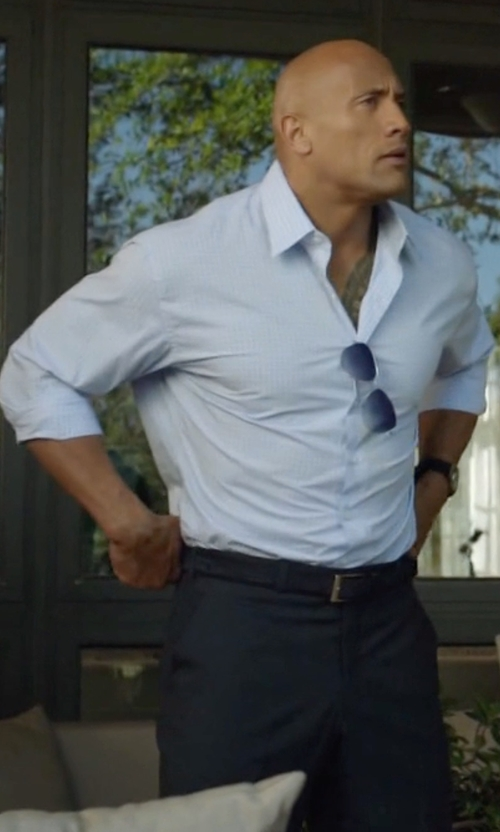Dwayne Johnson with Dolce & Gabbana Flat-Front Wool Pants in Ballers