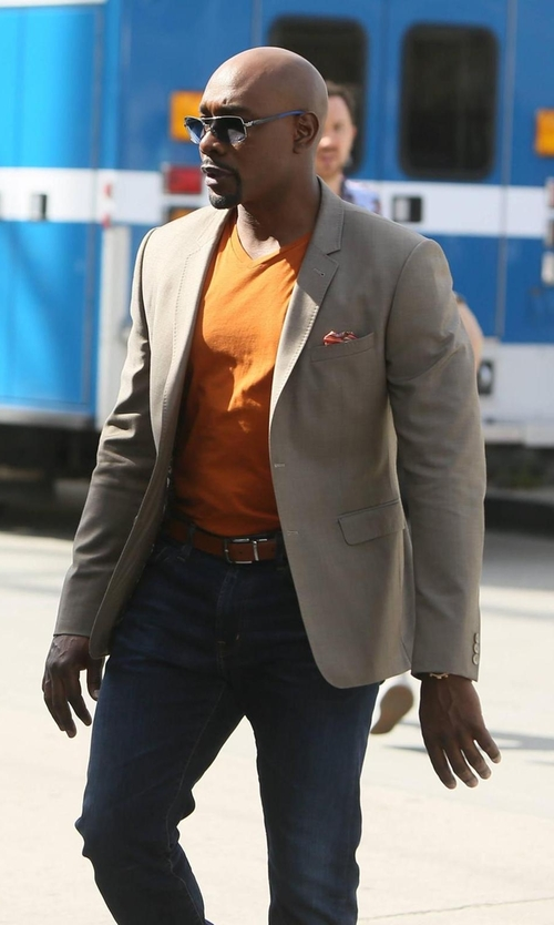 Morris Chestnut with Digel Single Breasted Blazer in Rosewood