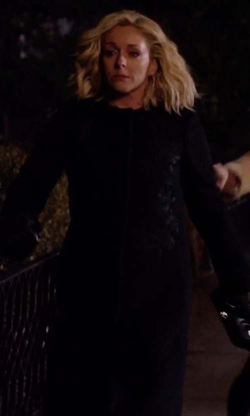 Jane Krakowski with The Row Malma Collarless Twill Coat in Unbreakable Kimmy Schmidt