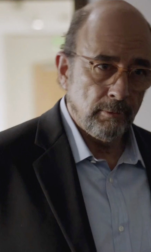 Richard Schiff with Oliver Peoples Finley Esq. Optical Glasses in Ballers