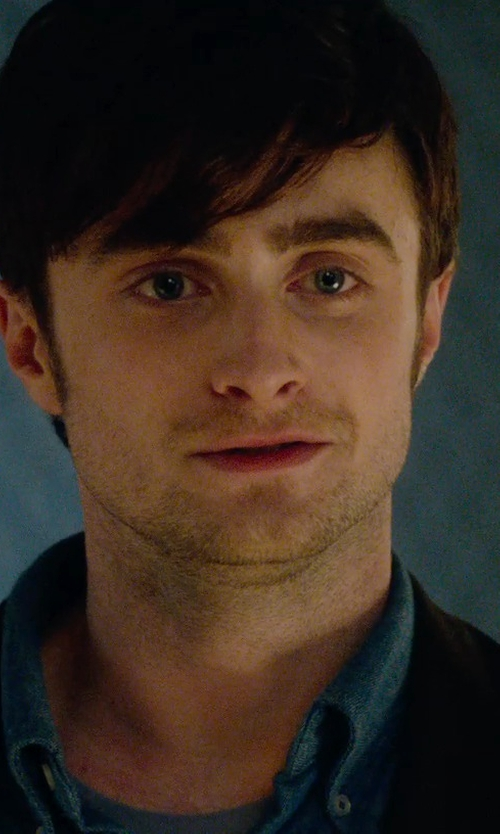 Daniel Radcliffe with Vince Linen Sport Shirt in What If