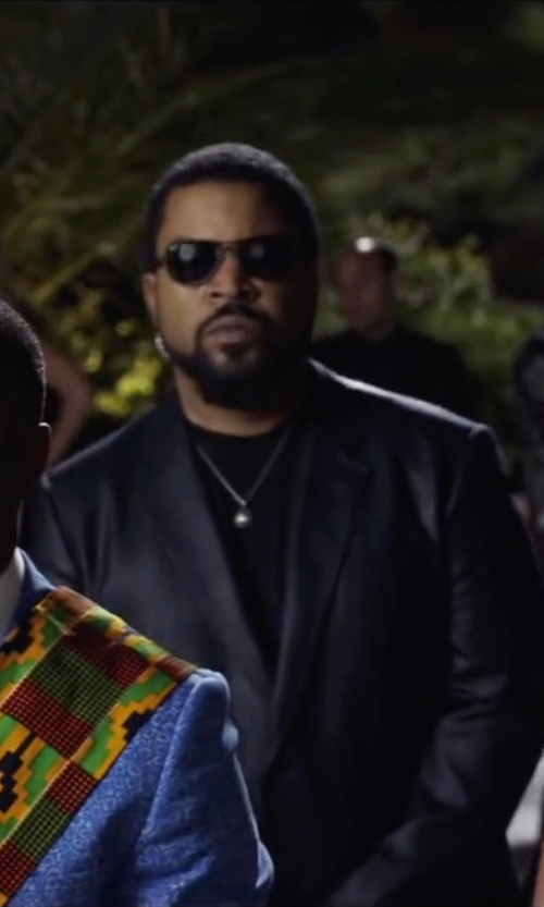 Ice Cube with INC International Concepts Slim-Fit Faux-Leather Blazer in Ride Along 2
