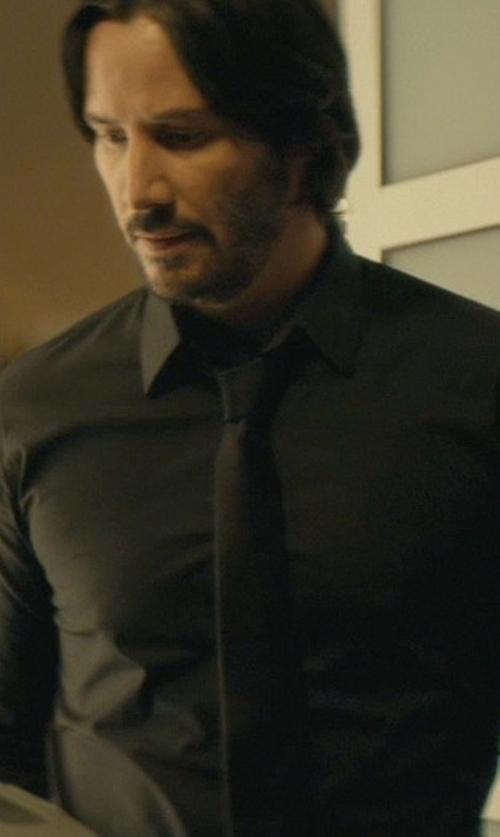 Keanu Reeves with Lanvin Woven Wool Tie in John Wick