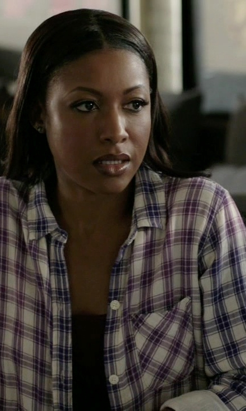 Gabrielle Dennis with Rails Sherry Hunter Top in Rosewood