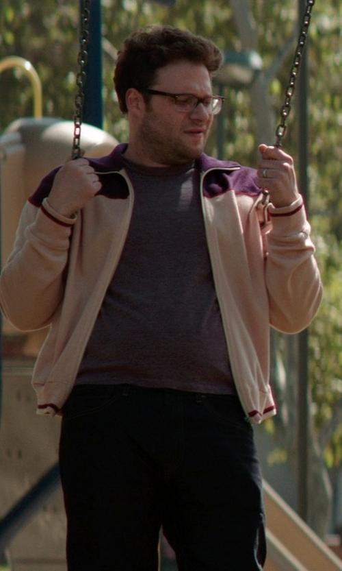 Seth Rogen with Columbia Men's Full Zip Jacket in Neighbors